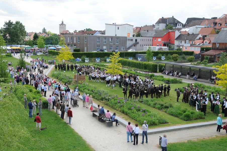 Jagdhornbläser beim cooltour-Sommer Tirschenreuth 2017